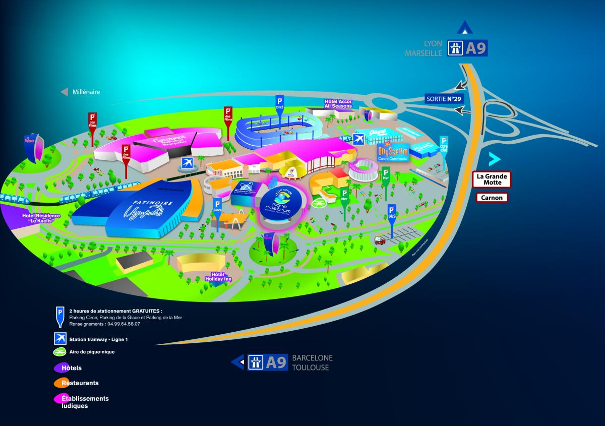 Plan d 39 acc s planetarium de montpellier - Carrefour market port marianne montpellier ...